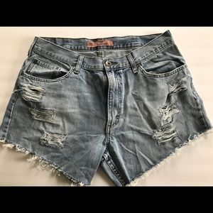 Vintage Lee Jean Shorts holes bleached Womens